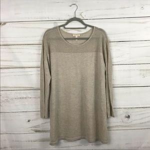 Eileen Fisher Beige Cream Wool Sweater Top